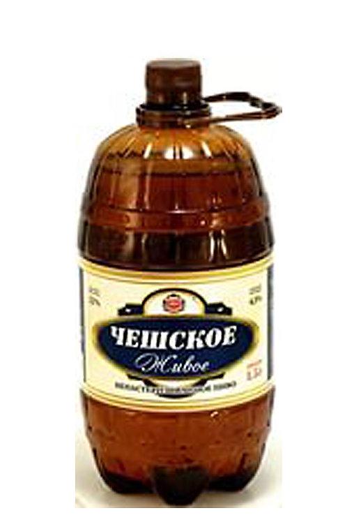 Чешское  живое 1.5л пэт (1х6) пиво оптом