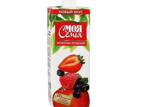 Моя Семья ягодно-фрукт. 1л (1х12) оптом