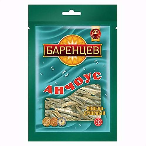 """Анчоус  """"Баренцев""""  20г. солёно-сушёный 1шт."""