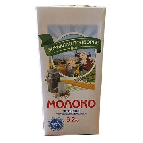 """Молоко """"Зорькино  Подворье"""" 3,2% 1л (1х12) оптом"""