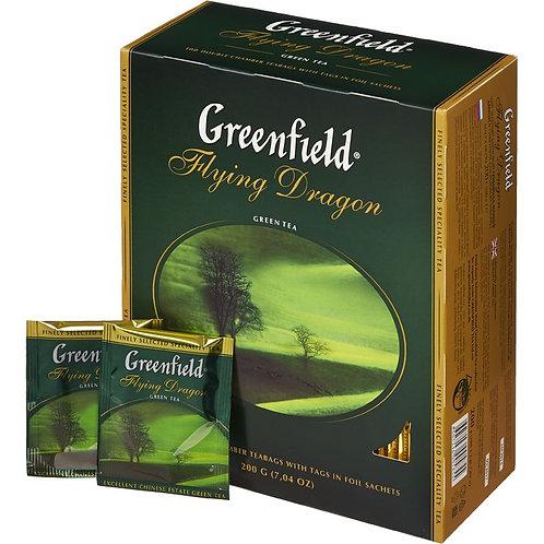 Чай Гринфилд  (100 пакет) зеленый 1шт. оптом