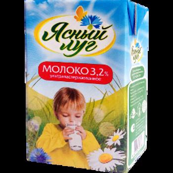 "оптом Молоко ""Ясный Луг""  3,2% 1л   Мордовия"