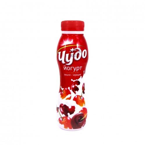 Йогурт Чудо Вишня-черешния 2,4%пет 290гр 1шт.