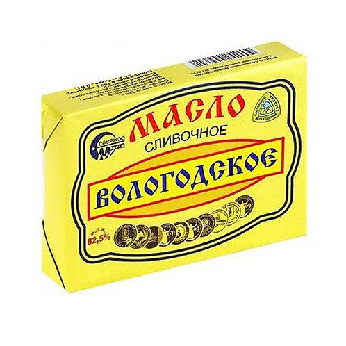 Масло (слив) Вологодское 82,5% 180гр 1шт. оптом