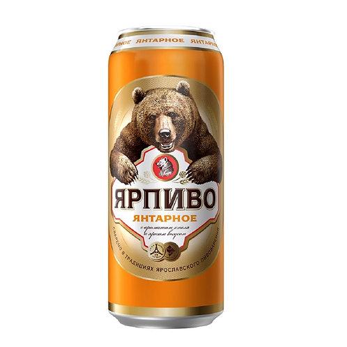 Ярпиво янтарное 0.5л ж/б (1х24) пиво оптом