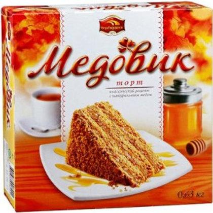 Торт Медовик класс. 630гр  большой оптом