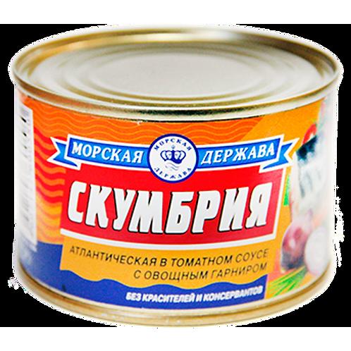 "Консерва  Скумбрия 250гр ""Морская Держава"" 1шт. оптом"
