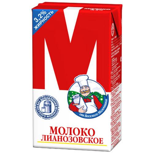 "оптом Молоко ""М""  3,2% 1л (1х12) красный"