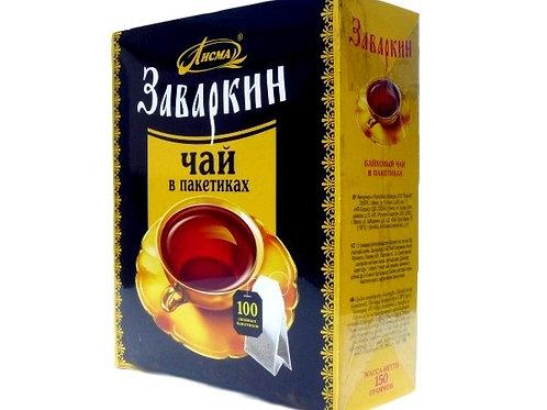 Чай Лисма ЗАВАРКИН черн. (100 пакет) 1шт. оптом