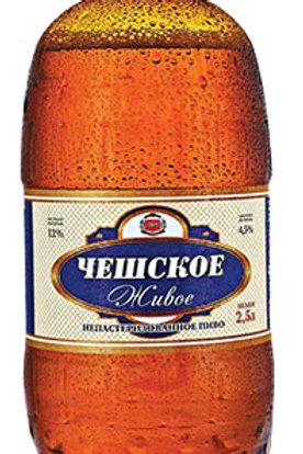 Чешское  живое 2.5л пэт (1х6) пиво оптом