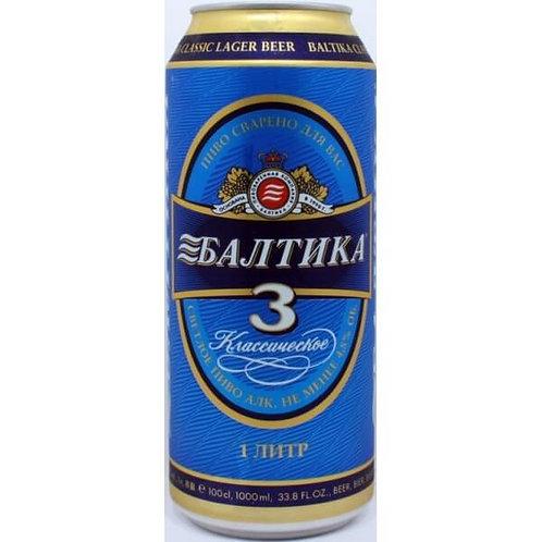Балтика №3 ж/б 1л  (1х12) пиво оптом