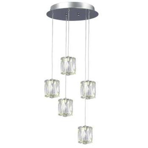 "Estella 12"" Round LED Crystal Multi Pendant"