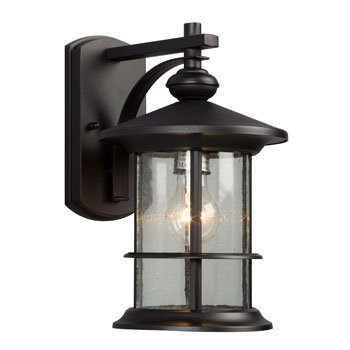 319740BK Round 1 Light Outdoor Sconce