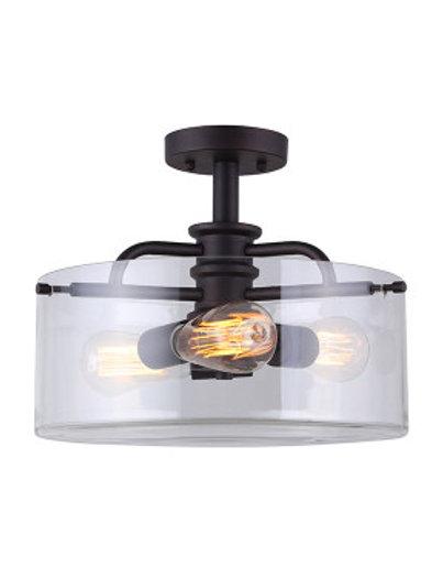 Albany 3 Light Semi-Flush