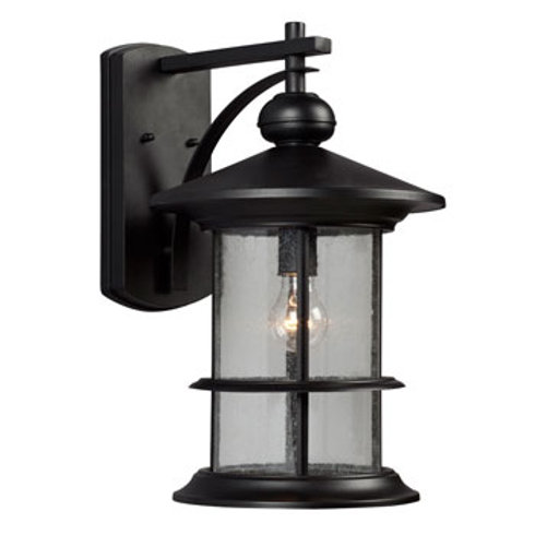 319750BK Round 1 Light Outdoor Sconce
