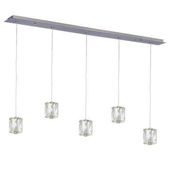 "Estella 36"" Linear LED Crystal Multi Pendant"
