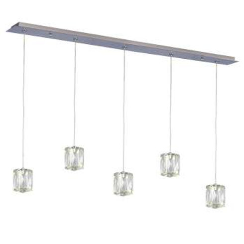 "Estella 36"" Linear LED Crystal Multi Pendant"