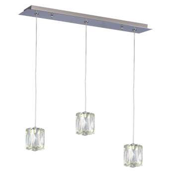 "Estella 20"" Linear LED Crystal Multi Pendant"