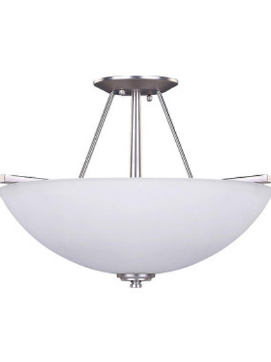 New Yorker 3 Light Semi-Flush