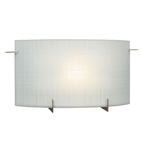 Omni Wall Sconce Frosted Linen Glass