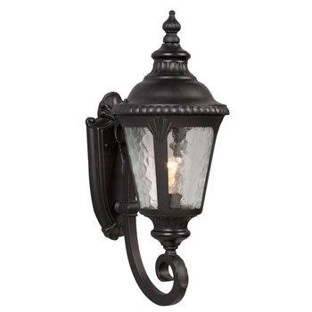 320481BK Outdoor 1 Light Uplight Wall Sconce