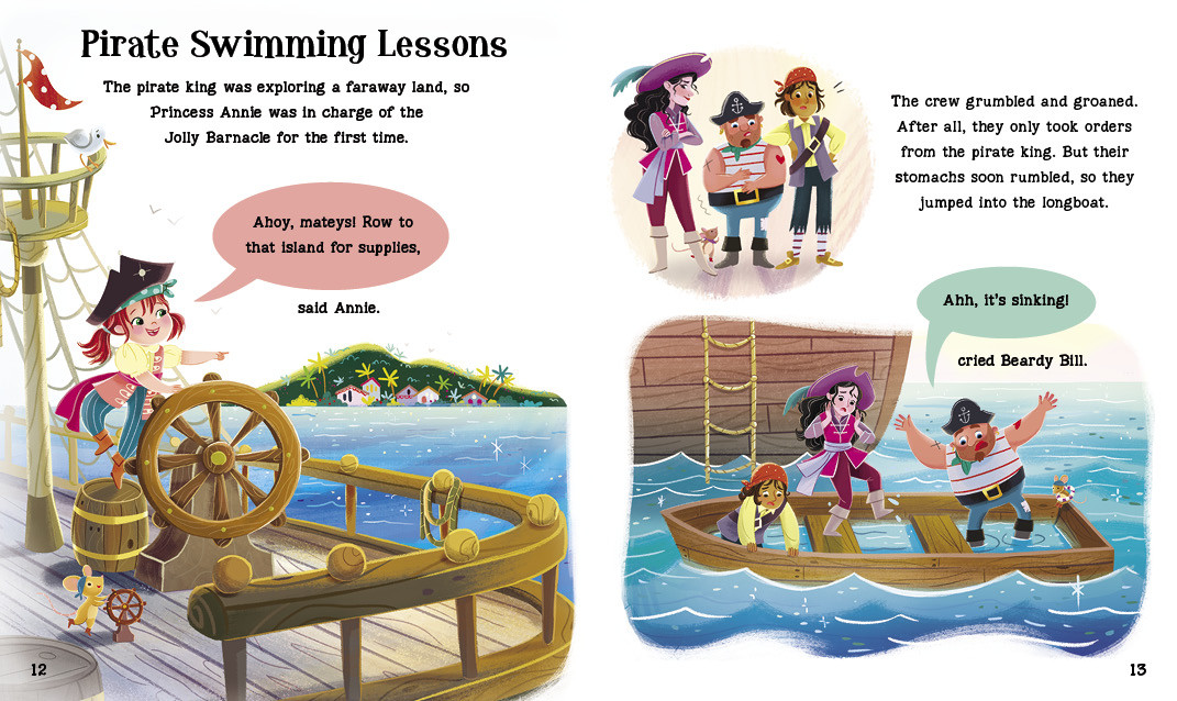 Spread from Pirate Swimming Lessons