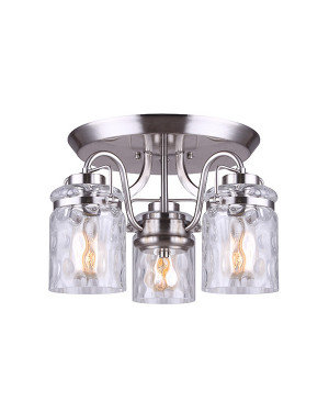 Arden 3 Light Semi-Flush