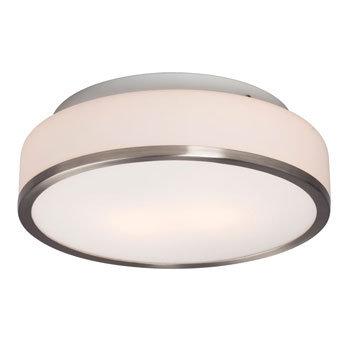 "12"" 2 Light Flushmount Single Ring"