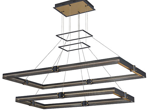 "Admiral 51"" Rectangular Chandelier Two Tier"
