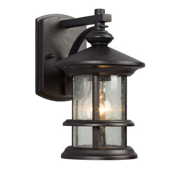 319730BK Round 1 Light Outdoor Sconce