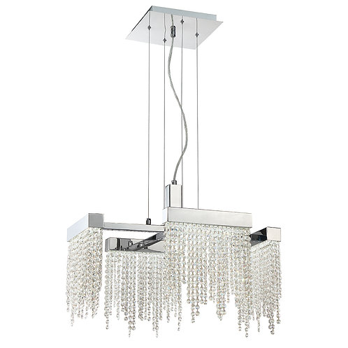 """Rossi 23"""" Square Chandelier"""