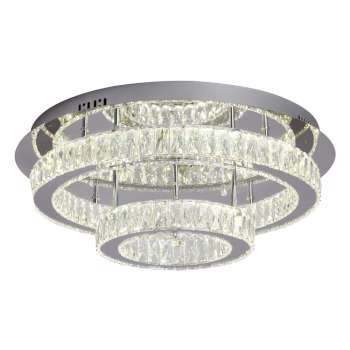 "Estella 22"" Crystal LED Semi-Flush"