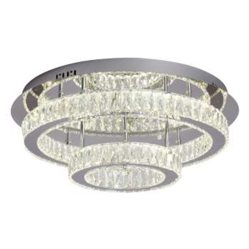 "Estella 22"" Crystal LED Semi-Flush"