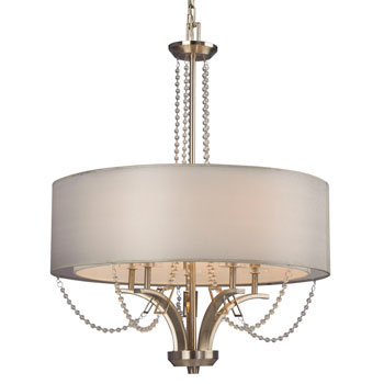 Silhouette 5 Light Fabric Chandelier