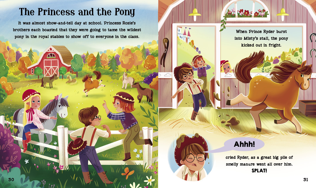 Spread from The Princess and the Pong