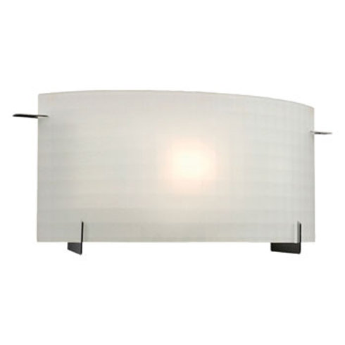 Omni Wall Sconce Frosted Checkered Glass