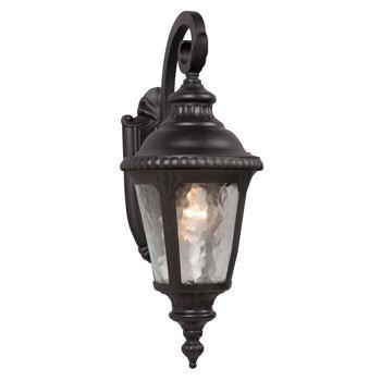 320480BK Outdoor 1 Light Downlight Wall Sconce
