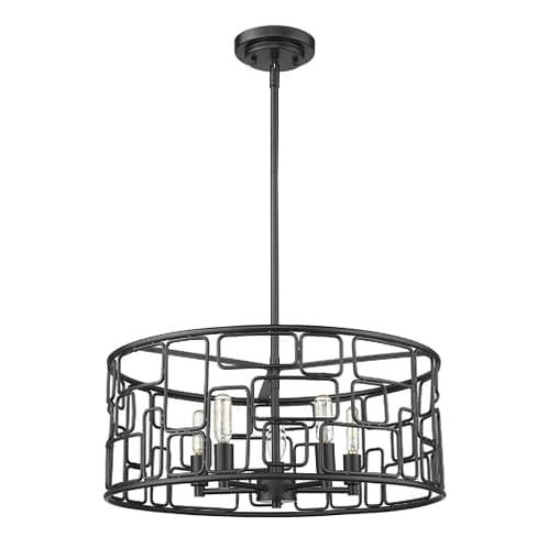 Amoret 5 Light Chandelier/Semi-Flush