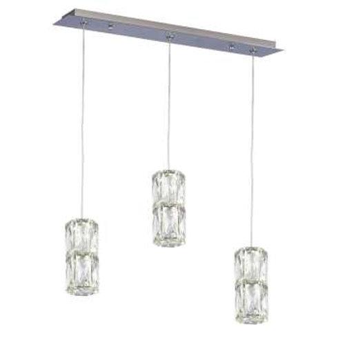 "Estella 20"" Linear LED Double Crystal Multi Pendant"