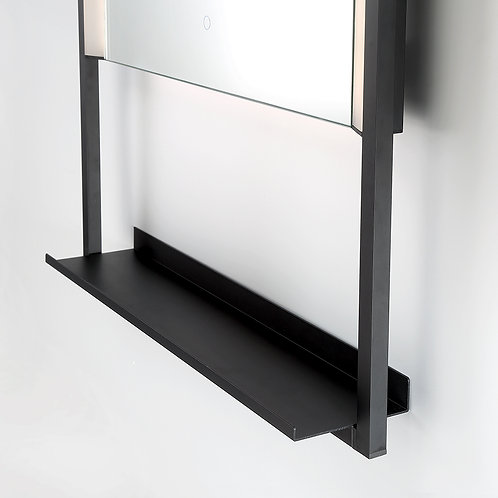 "20"" x 32"" Rectangular LED Mirror with Built in Shelf"
