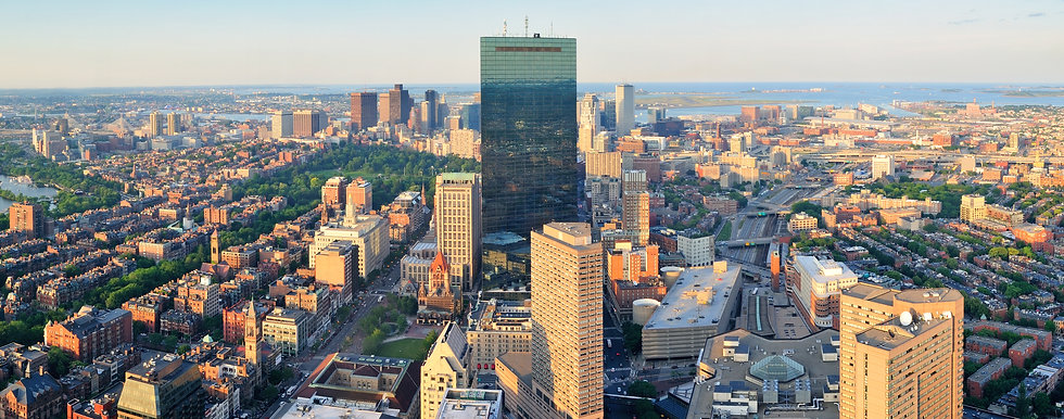 Boston City Aerial View