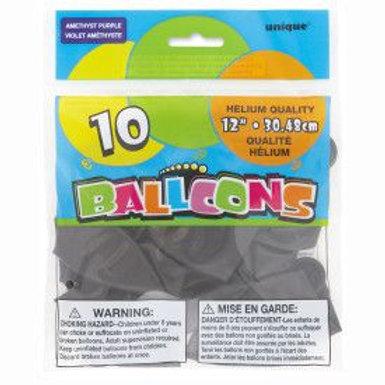 "Balloon Latex 12"" Amethyst Purple 10C"