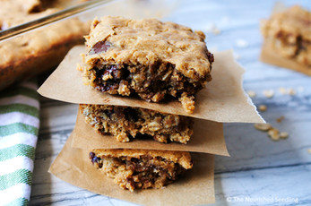 Healthy Peanut Butter and Chocolate Oat Bars