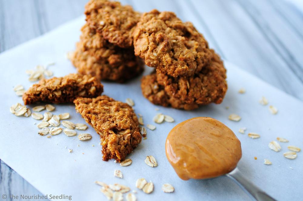 gluten free quinoa and oatmeal peanut butter cookies