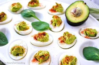 Spinach & Avocado Deviled Eggs