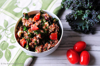 Kale and Cranberry Quinoa Salad