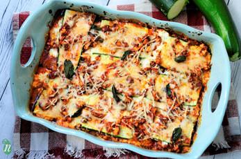 Gluten and Grain Free Zucchini Noodle Lasagna
