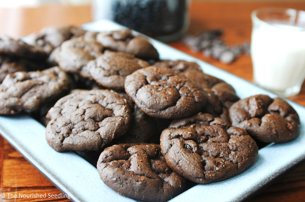gluten free double chocolate black bean cookies