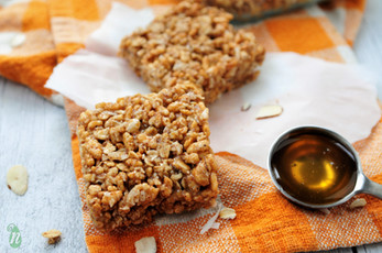 No Refined Sugar Honey Almond Crispy Rice Treats