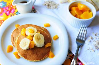 Banana and Mango Blender Pancakes